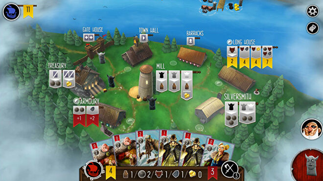 Raiders of the North Sea digital board game screenshot