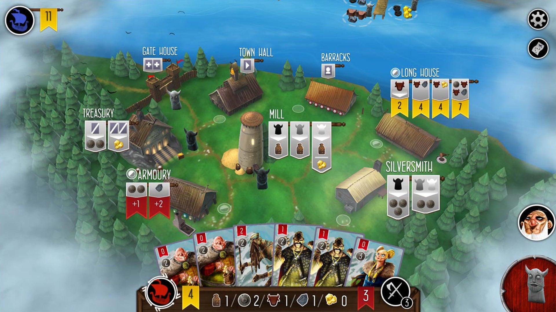 Raiders of the North Sea digital board game screenshot