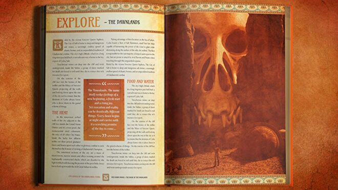 Red Dawn: Into the Dawnlands rpg book layout