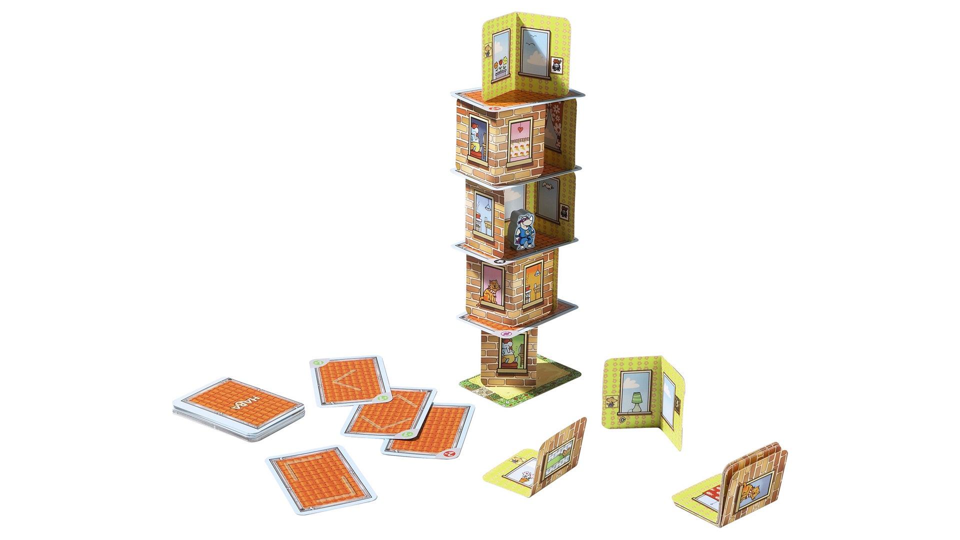 Rhino Hero family board game gameplay layout