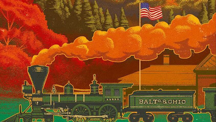 Ride the Rails board game artwork