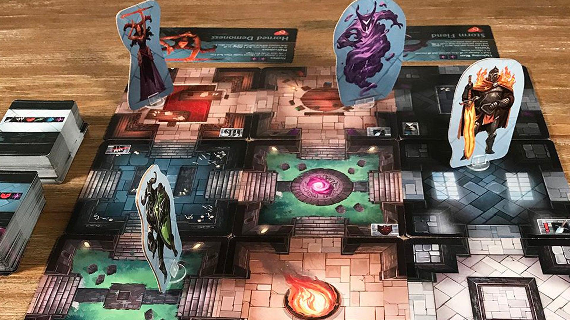 Rift Knights board game layout