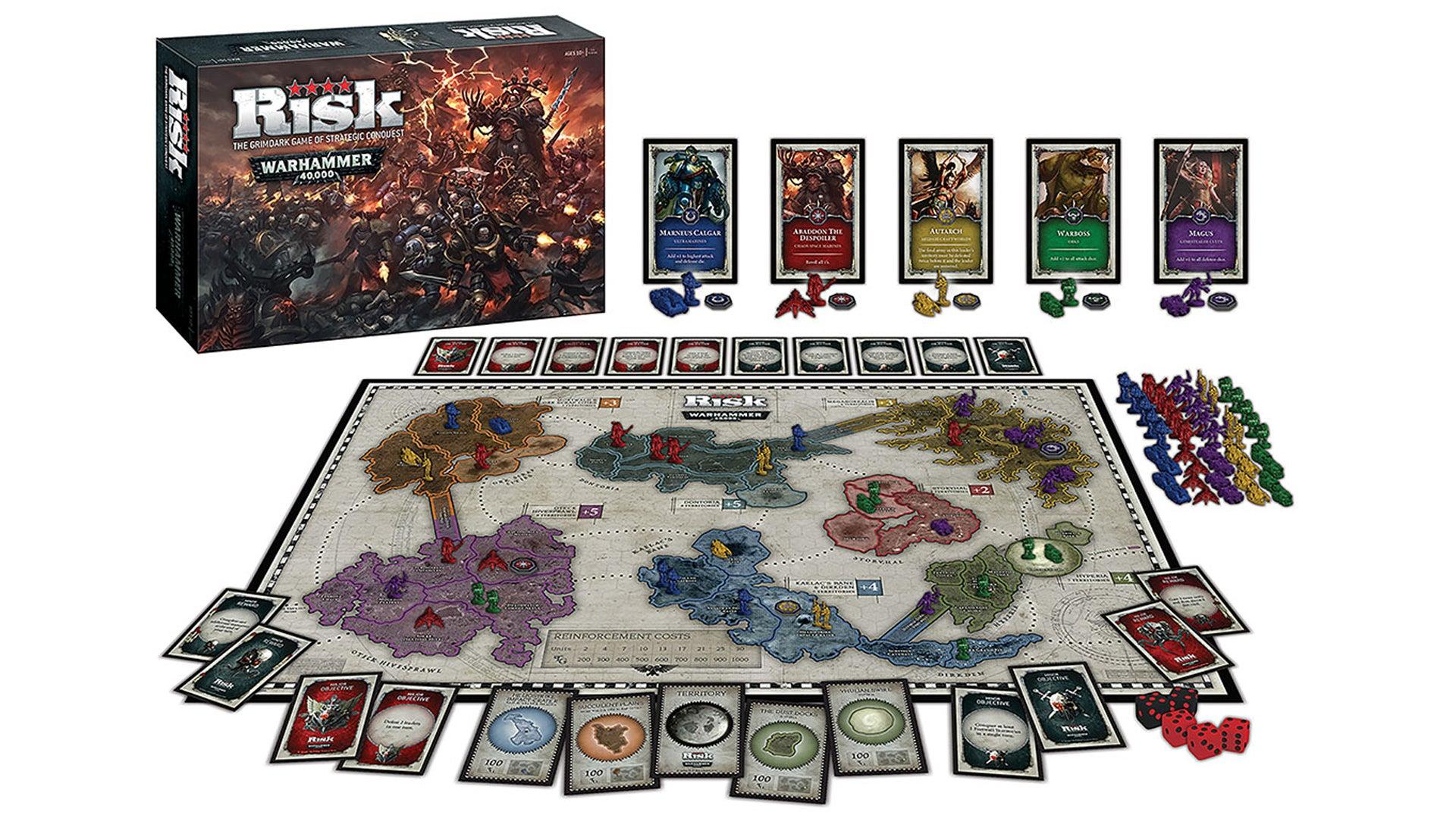 Risk: Warhammer 40,000 board game layout