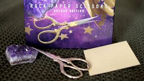 Image for Rock Paper Scissors: Deluxe Edition costs £20, includes actual rock, paper and scissors, single-player mode, and lore