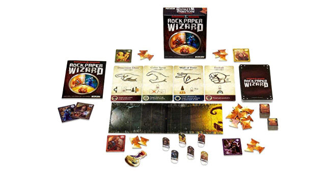 Dungeons & Dragons: Rock, Paper, Wizard board game layout
