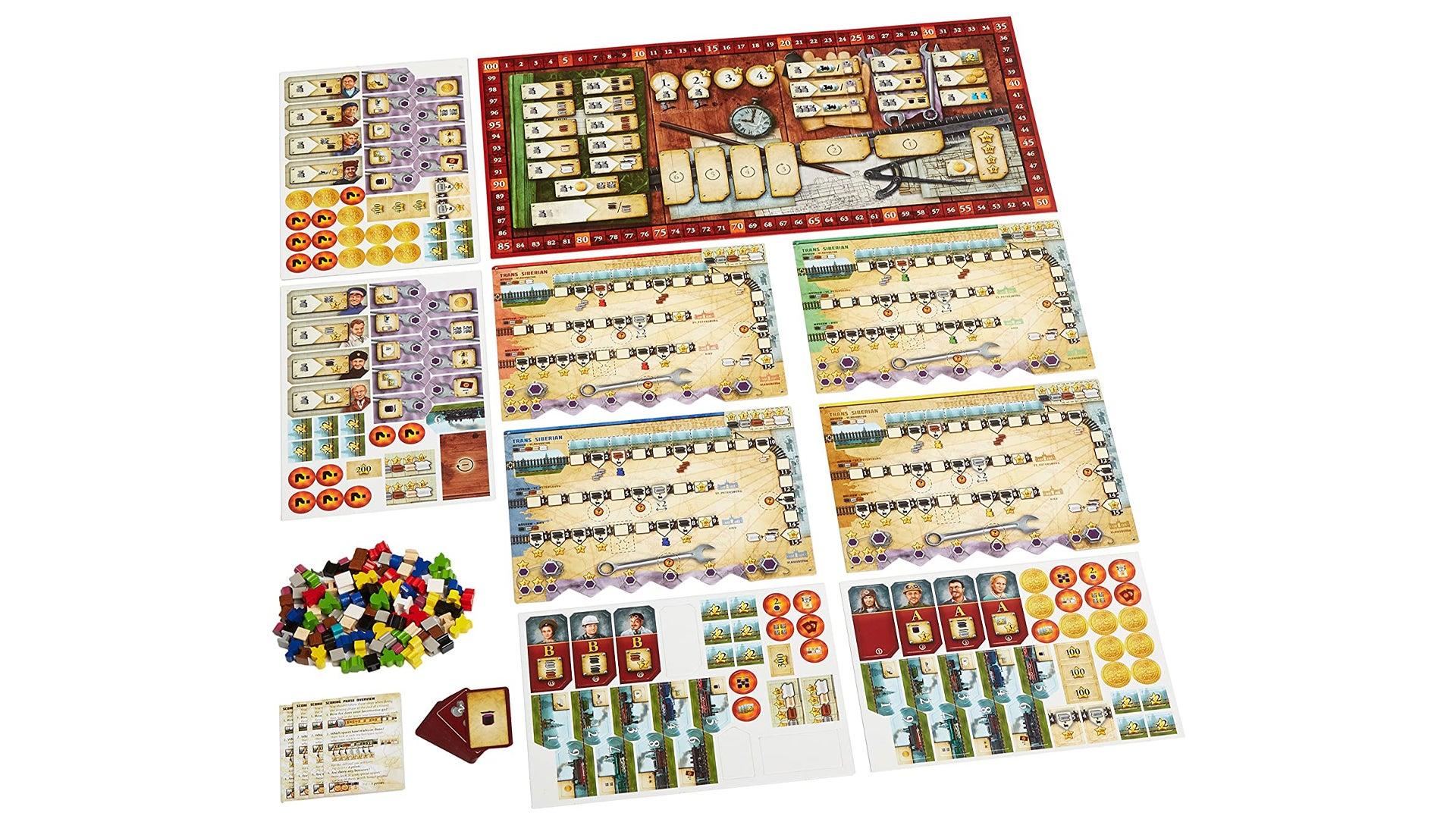 Russian Railroads board game layout