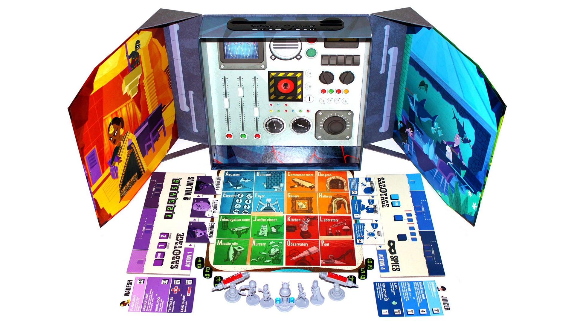 Sabotage board game layout
