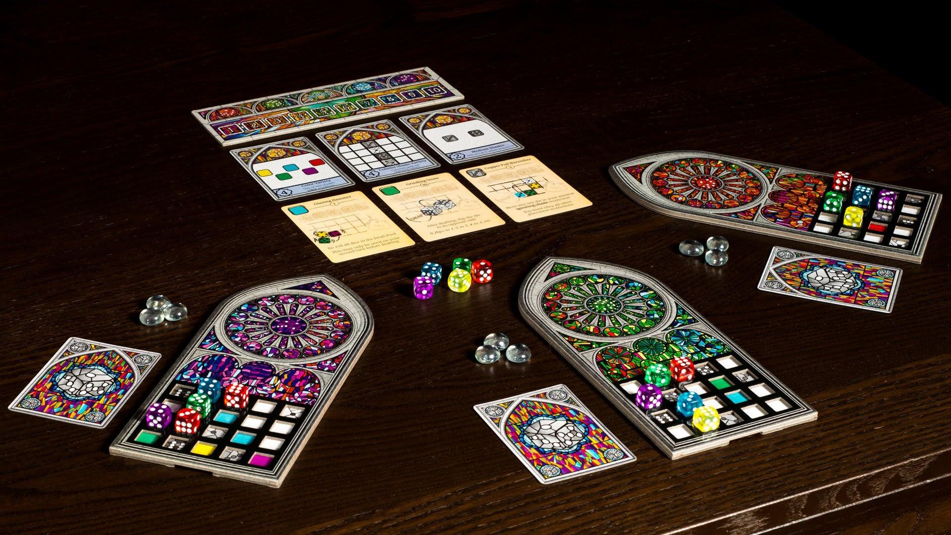 Sagrada beginner board game gameplay layout