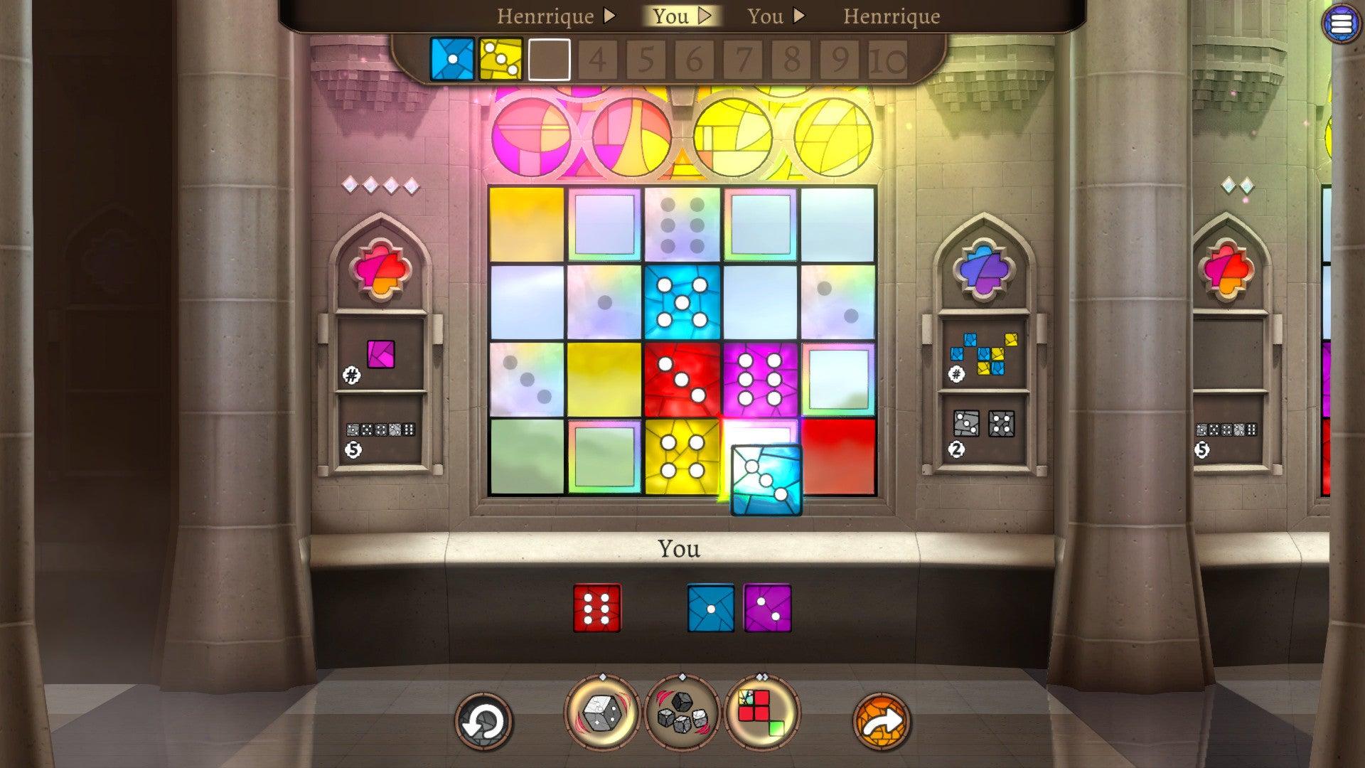 Sagrada digital board game screenshot