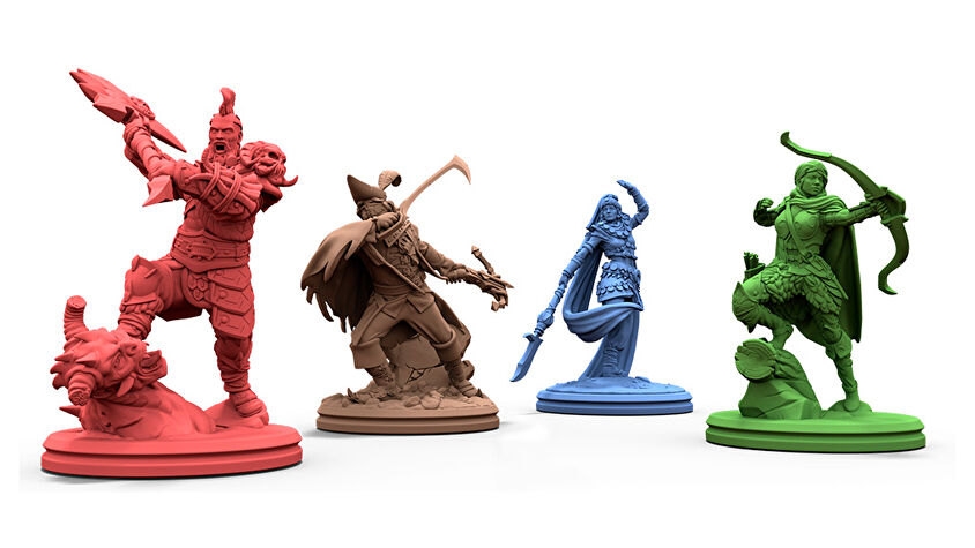 Sanctum board game miniatures