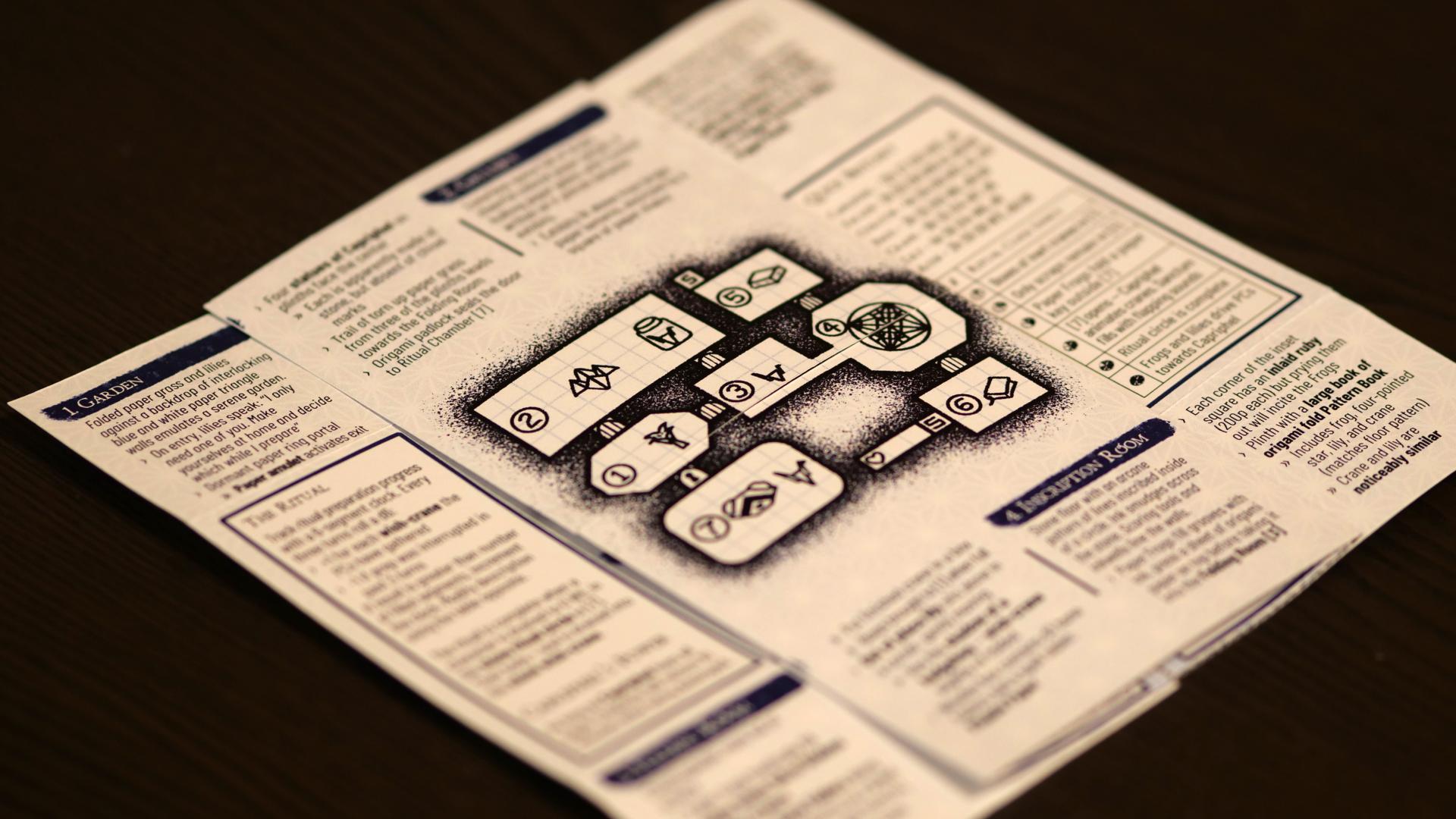 Image for Mausritter adventure Sanctum of the Ori Magi is genuine, folded-paper magic