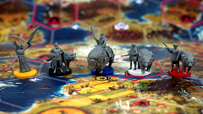 Scythe strategy board game miniatures