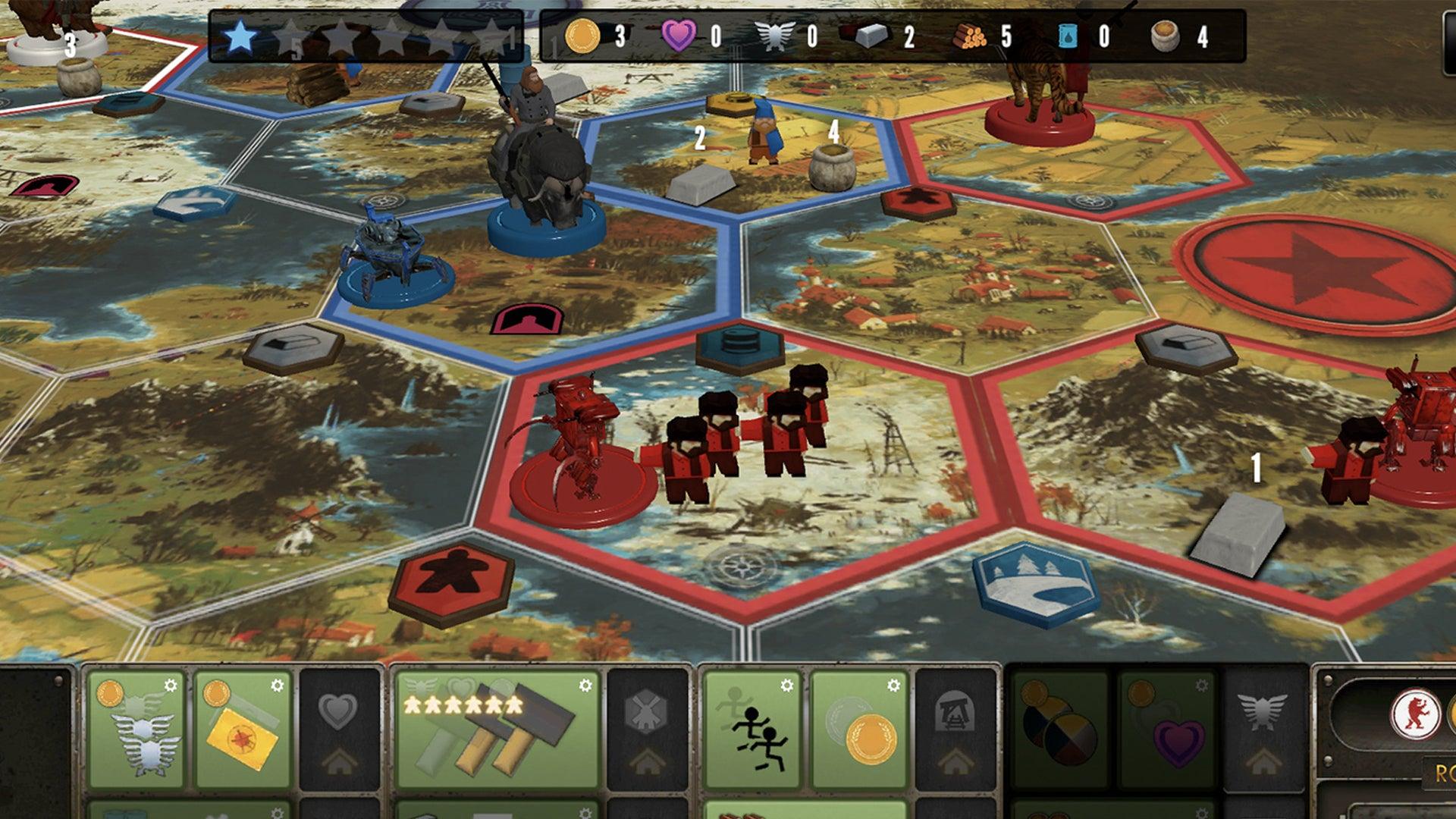 Scythe: Digital Edition screenshot board