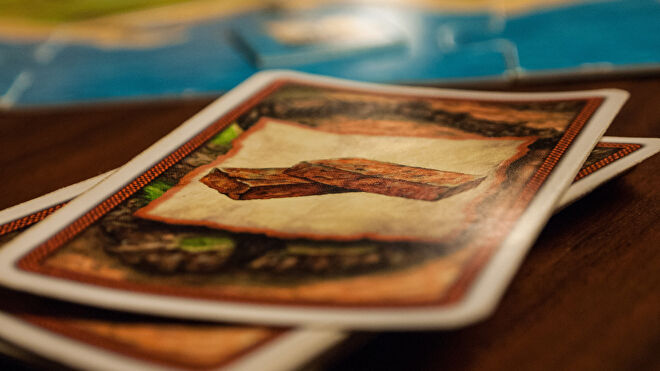 Settlers of Catan board game cards