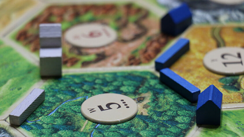 Settlers of Catan board game gameplay