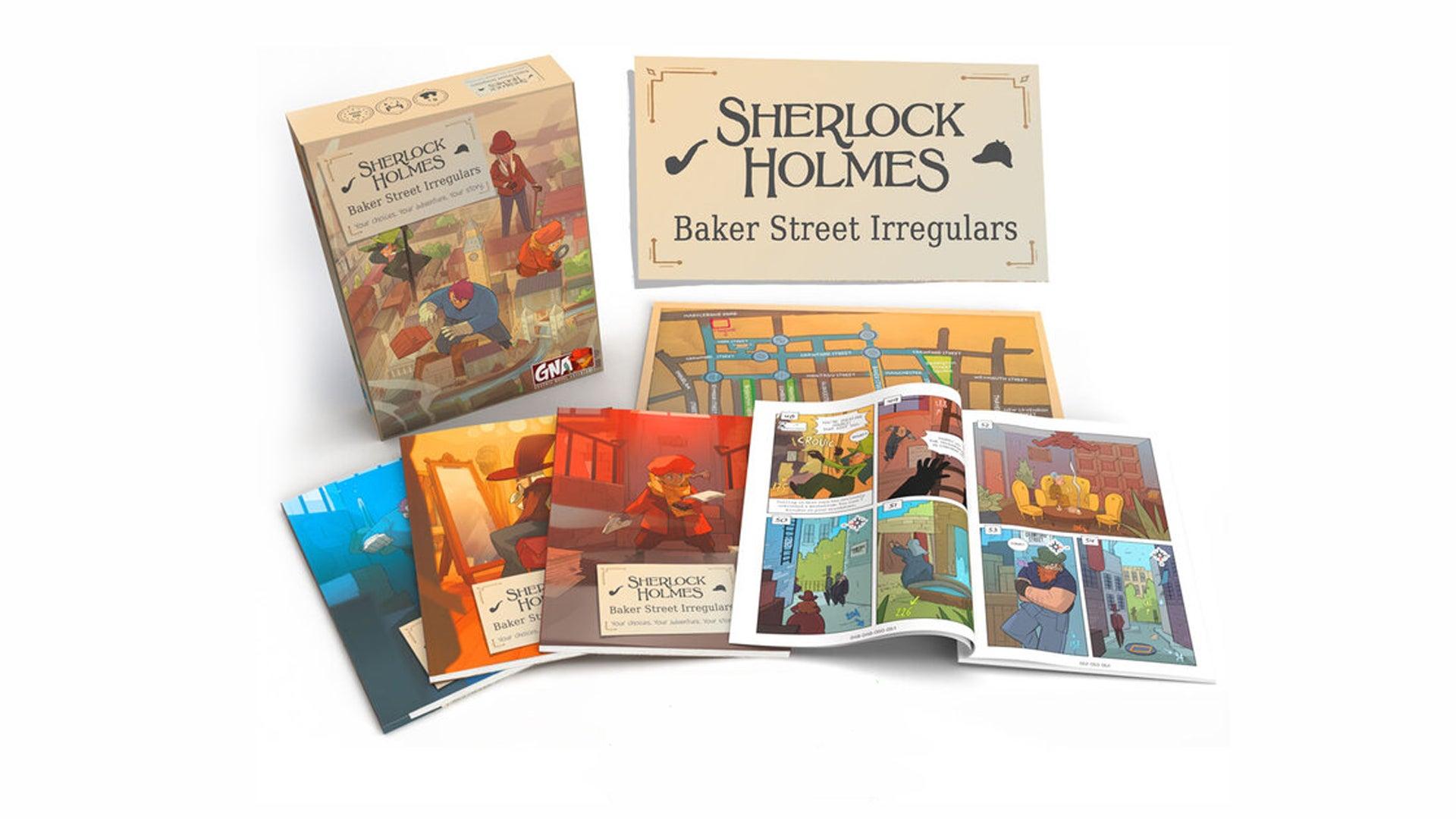 Sherlock Holmes: Baker Street Irregulars board game artwork
