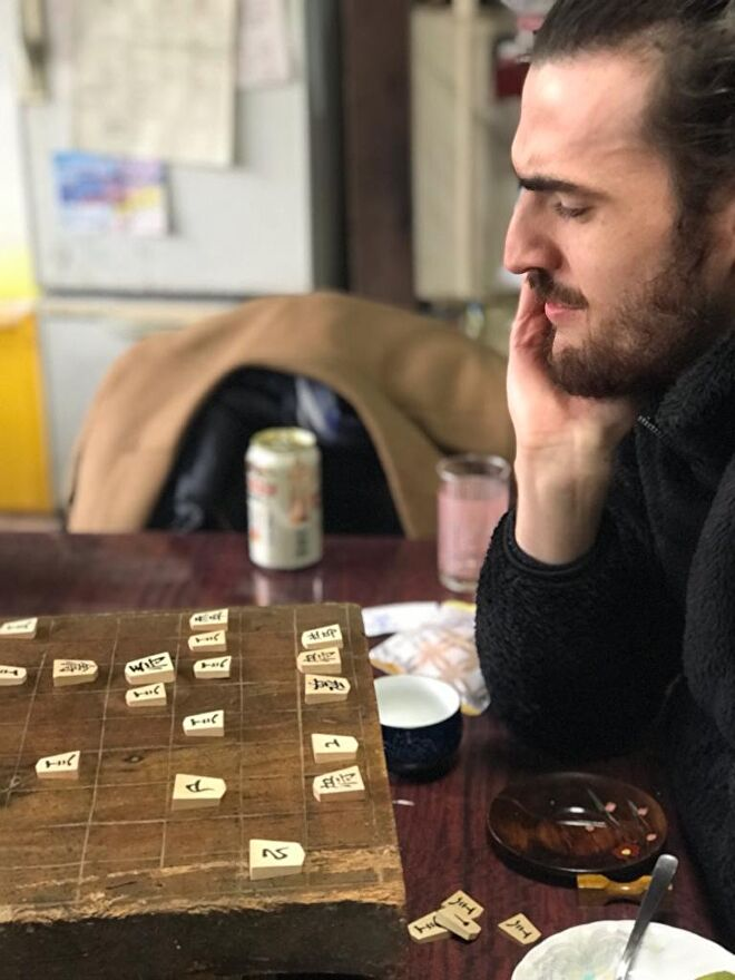 Person playing shogi