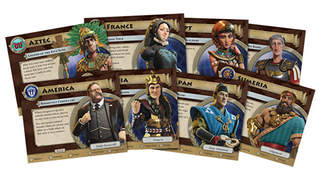 Sid Meier's Civilisation: A New Dawn board game cards