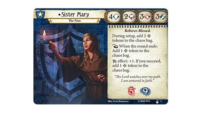 Sister Mary The Innsmouth Conspiracy Arkham Horror: The Card Game
