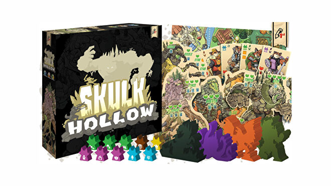 Skulk Hollow board, box, and figures