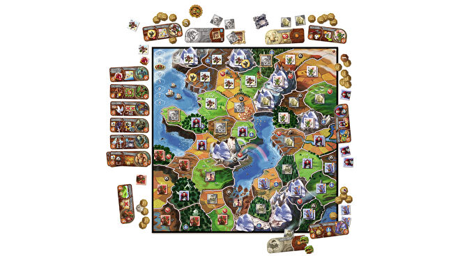 Small World board game layout
