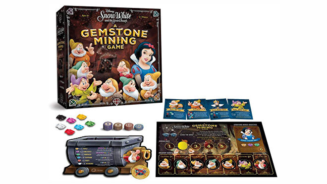 Snow White and the Seven Dwarfs: A Gemstone Mining Game board game layout
