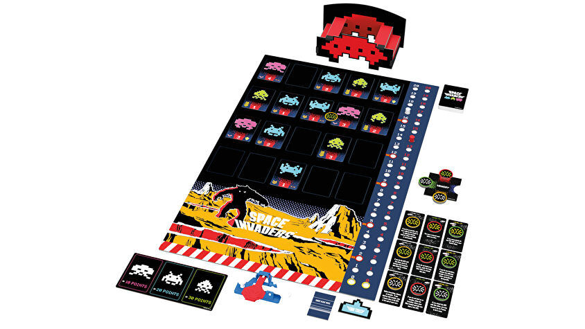 Space Invaders board game layout