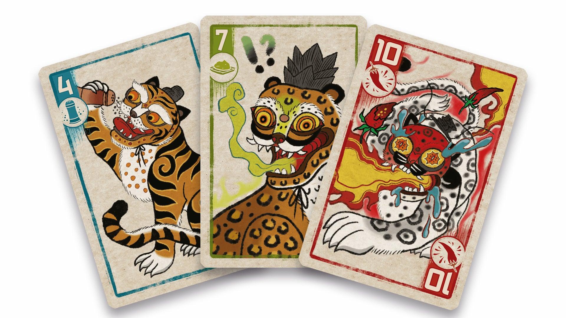 Spicy board game card fan
