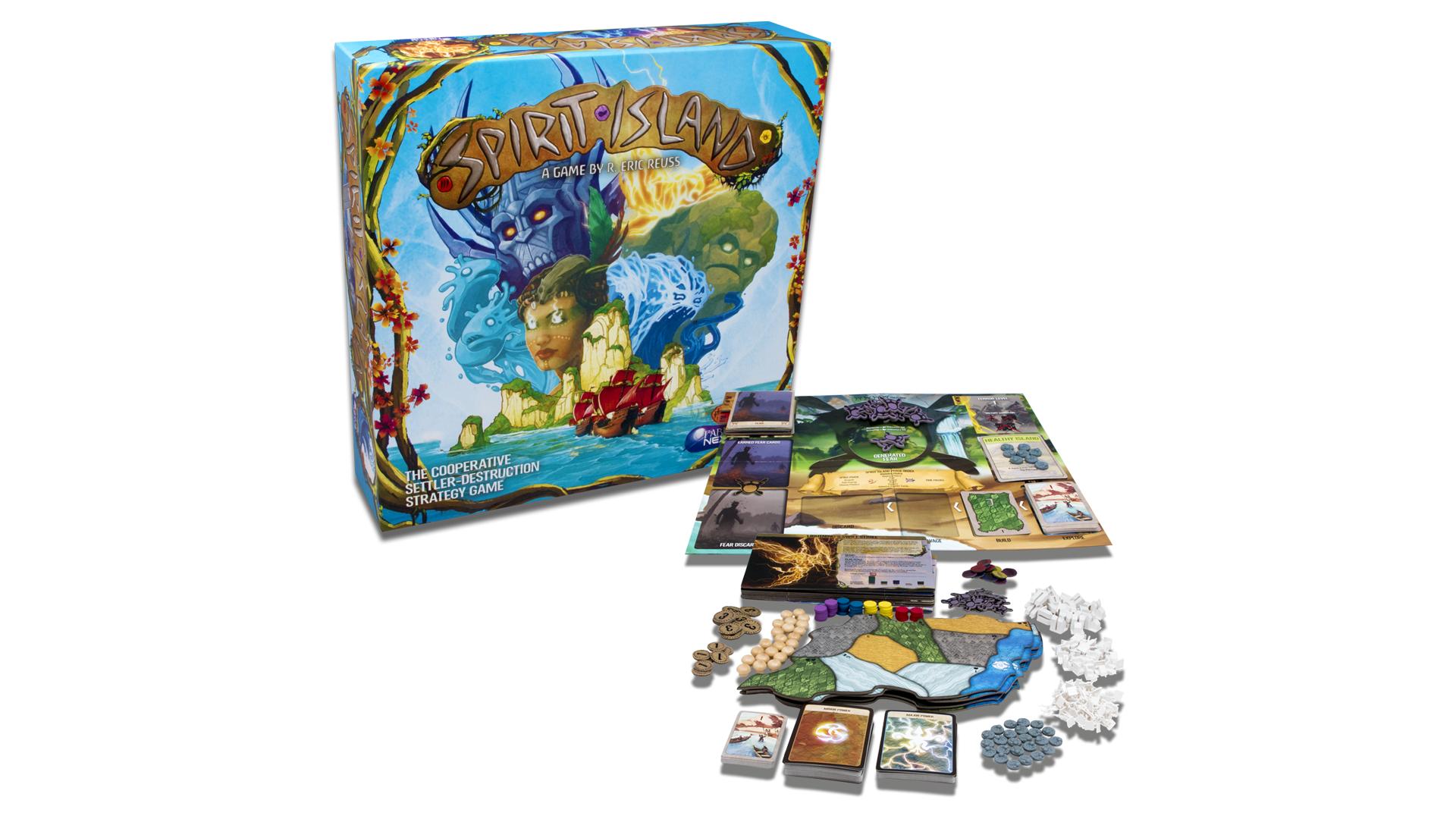 Spirit Island board game components