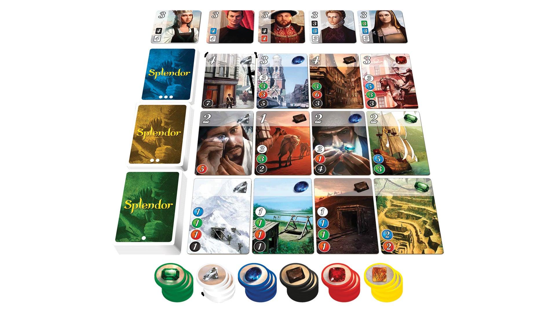 Splendor board game cards