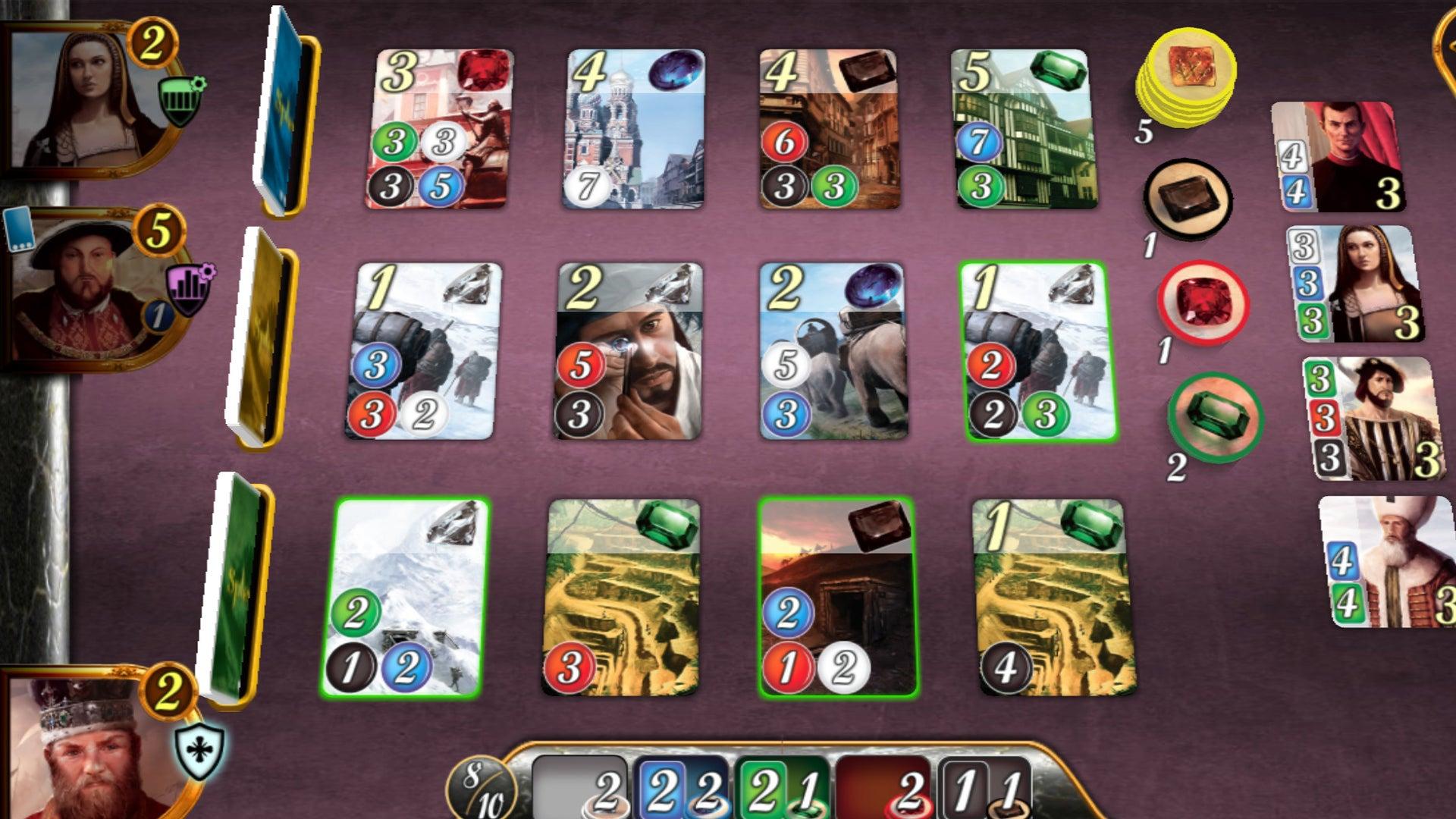 Splendor digital board game screenshot