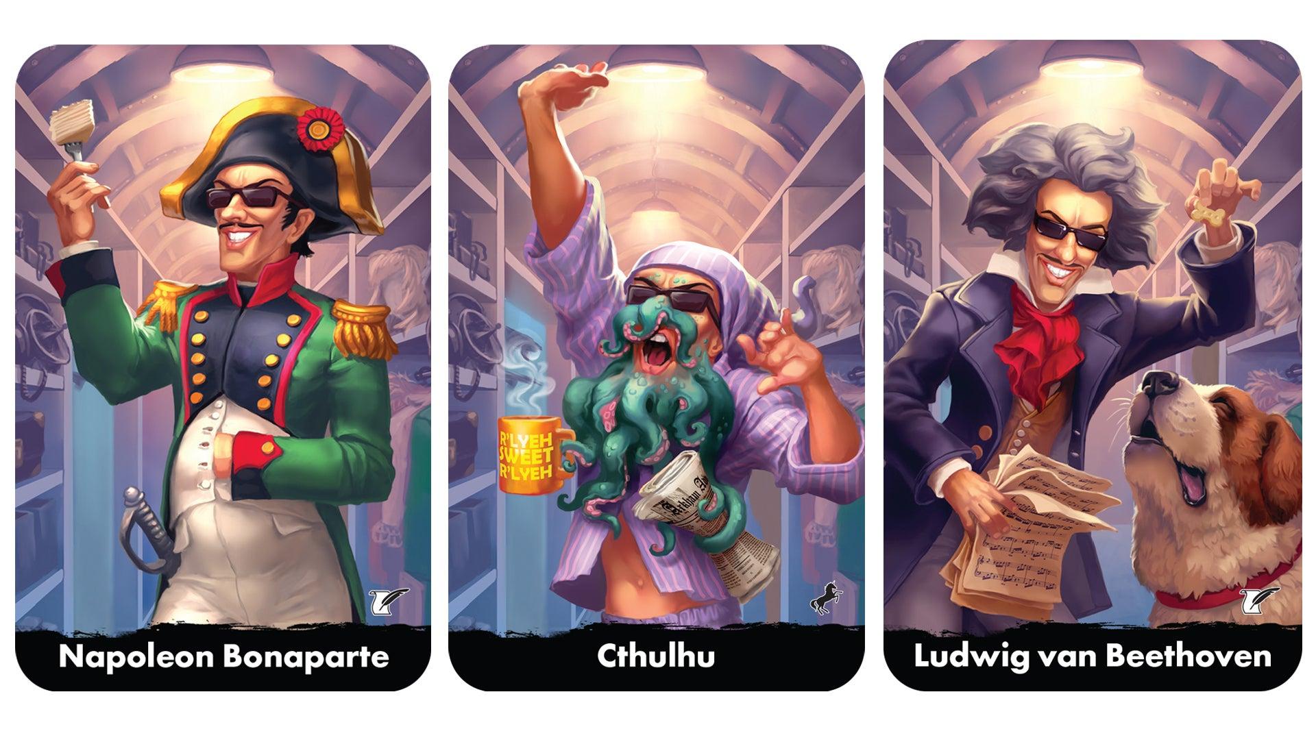 Spyfest board game card fan