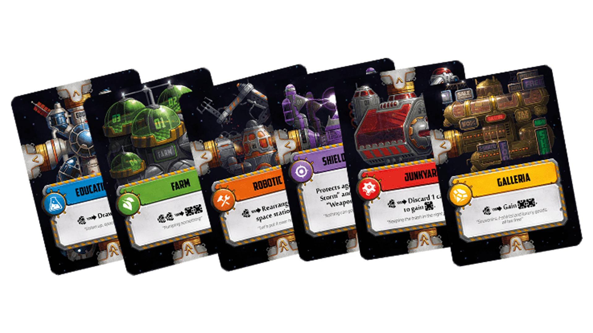 Star Scrappers: Orbital board game cards