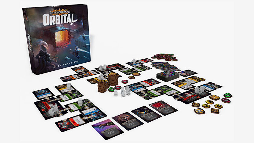 Star Scrappers: Orbital board game layout
