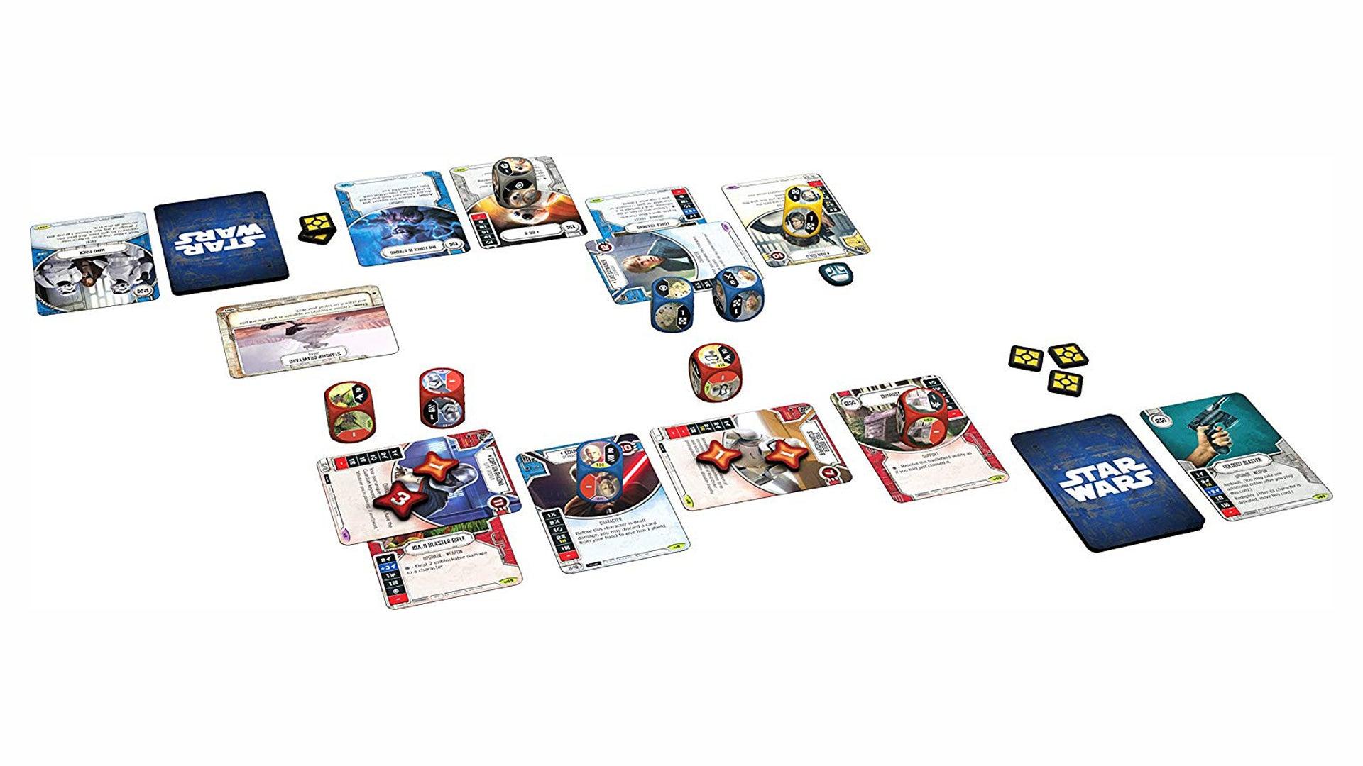 Star Wars: Destiny trading card game Kylo Ren Starter Set cards