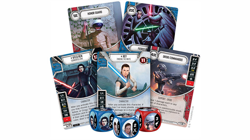 Star Wars: Destiny trading card game cards