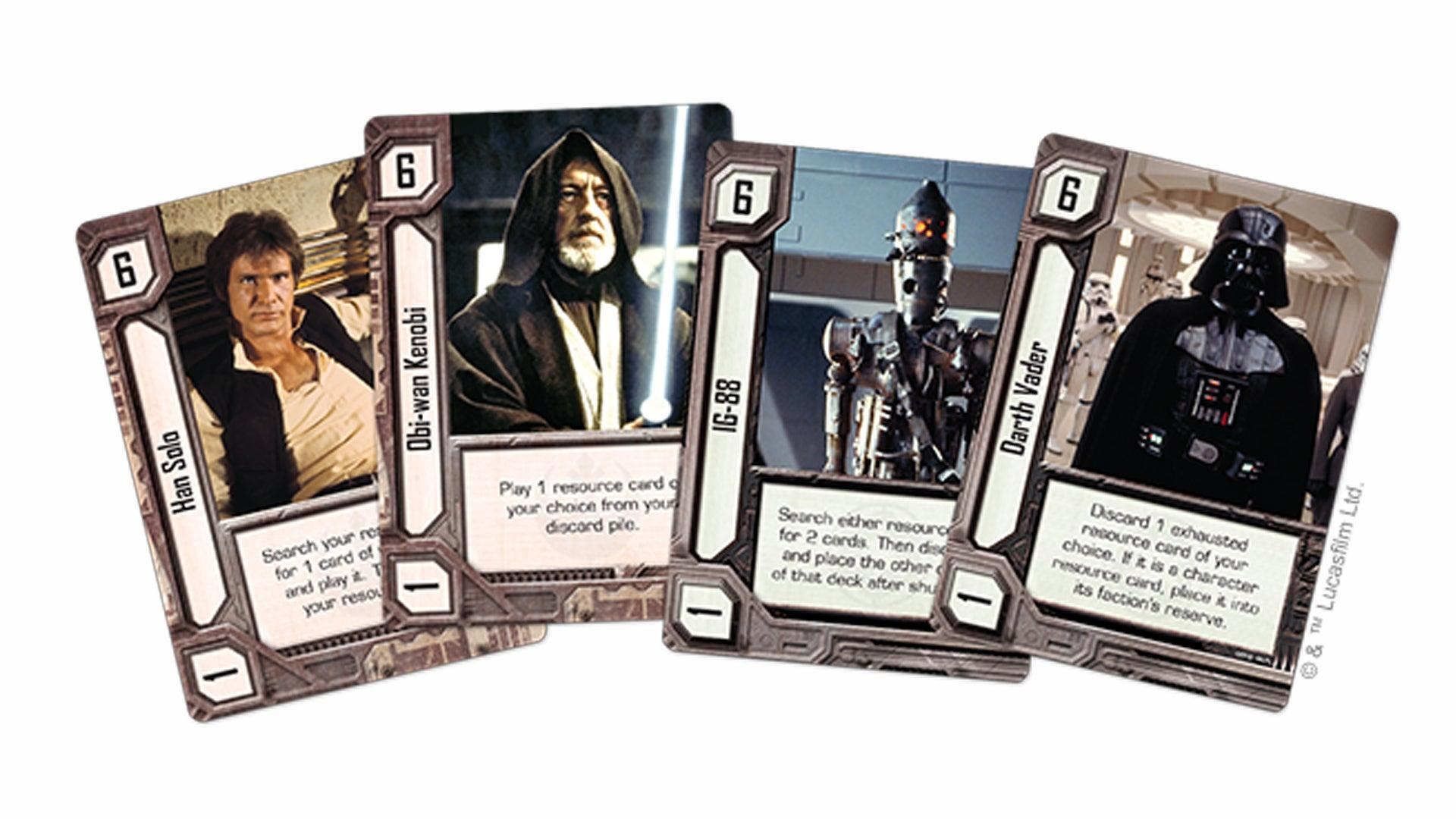 Star Wars: Empire vs. Rebellion board game cards