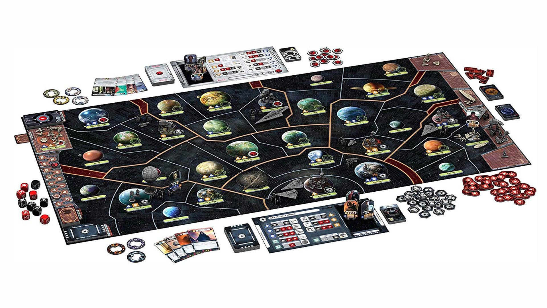 Star Wars: Rebellion board game layout