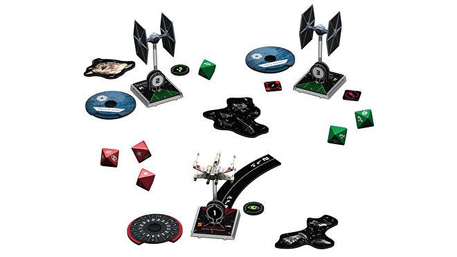 Image depicting multiple pieces from Star Wars: The X-Wing Miniatures Game