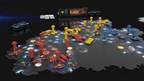 Image for Stellaris: Infinite Legacy board game details easy drop-in, drop-out and clean storage between sessions