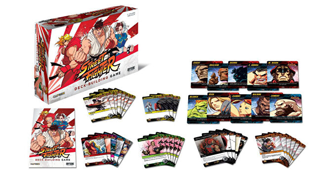 Capcom Street Fighter Deck-building Game layout