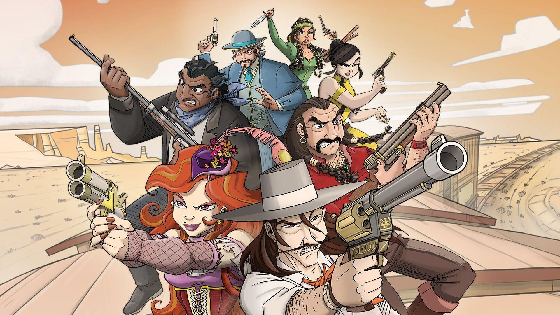 Super Colt Express board game artwork