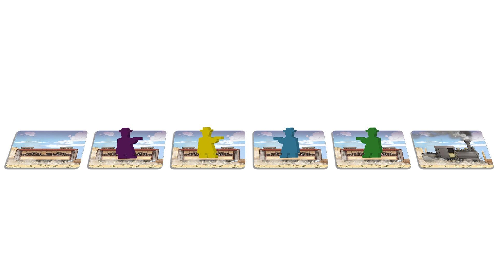 Super Colt Express board game card layout