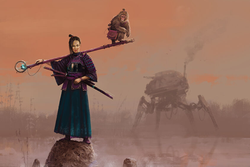 Scythe board game artwork solo