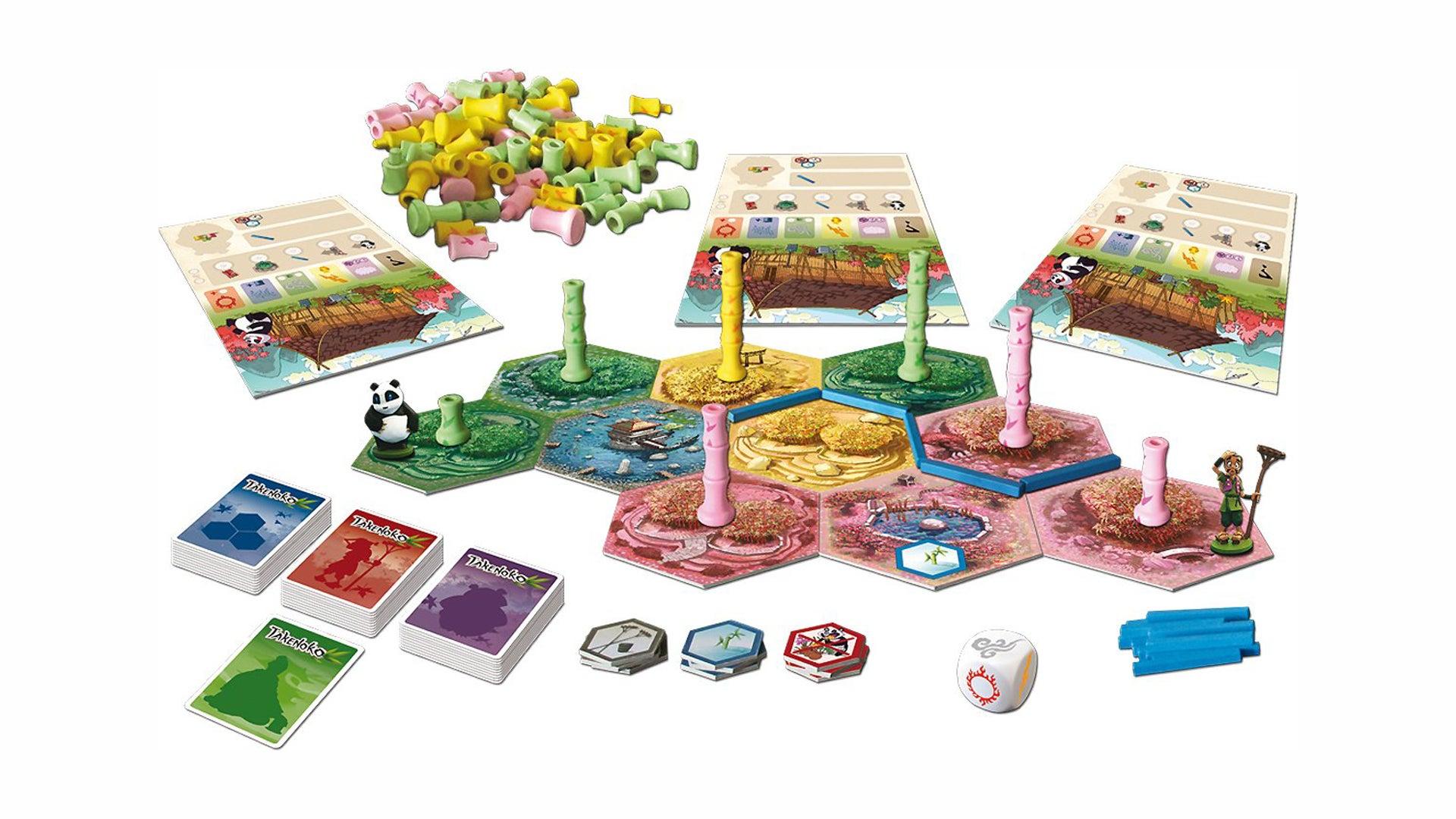 Takenoko board game layout