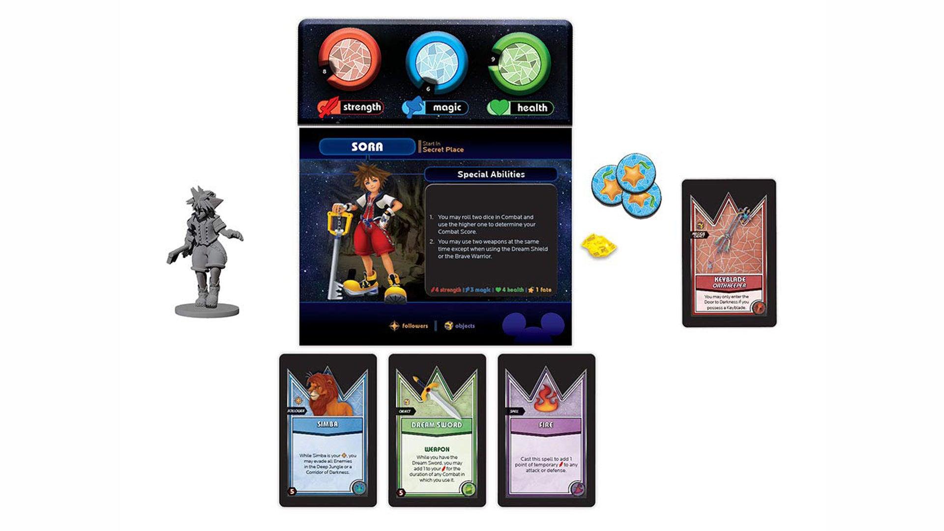 Talisman: Kingdom Hearts board game layout