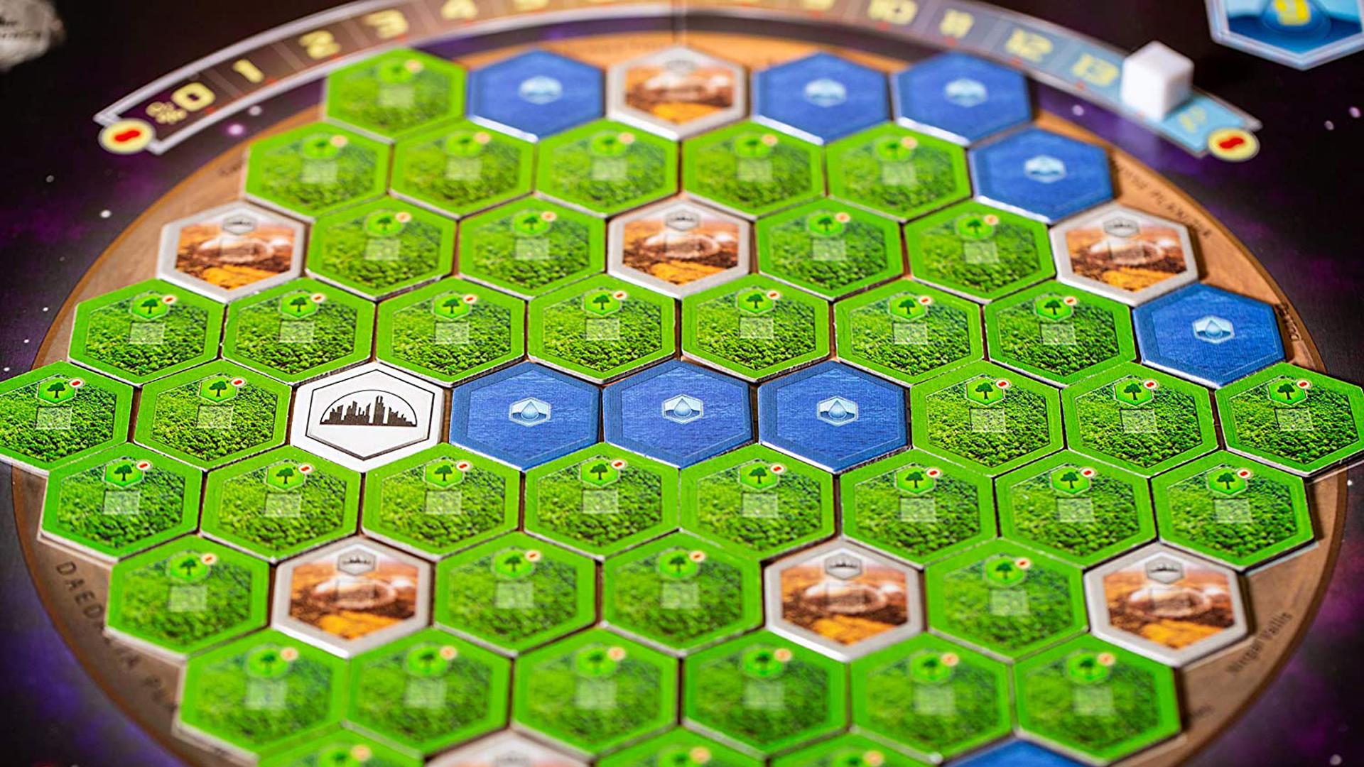 Terraforming Mars board game layout