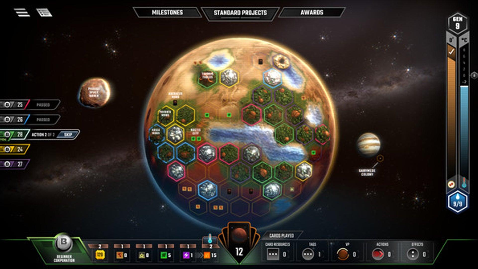 Terraforming Mars digital version screenshot