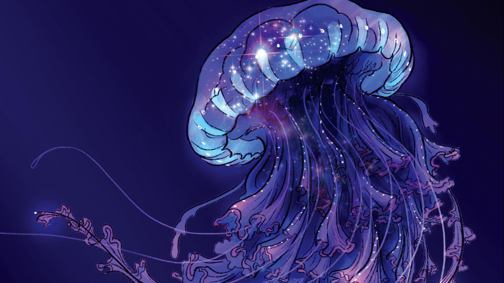 The Adventure Zone: Bureau of Balance board game artwork Jellyfish