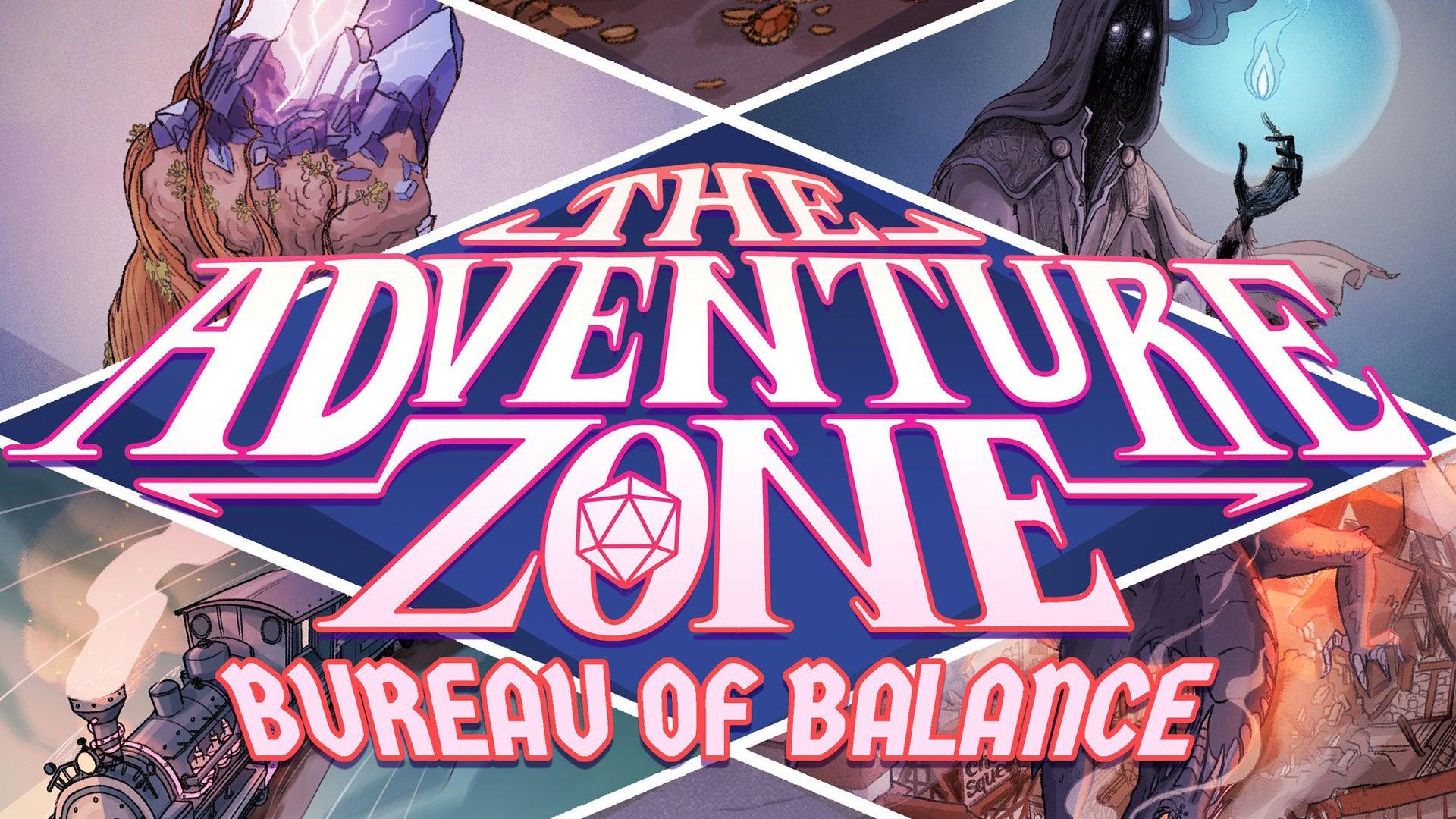 The Adventure Zone: Bureau of Balance board game artwork